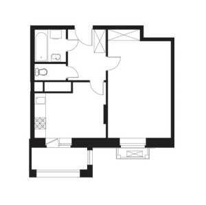 Планировка однокомнатной квартиры в Лайково